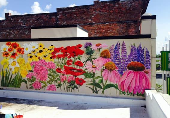 Downtown mural highlights Rutland Blooms