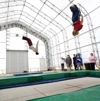 KMS launches trampoline club