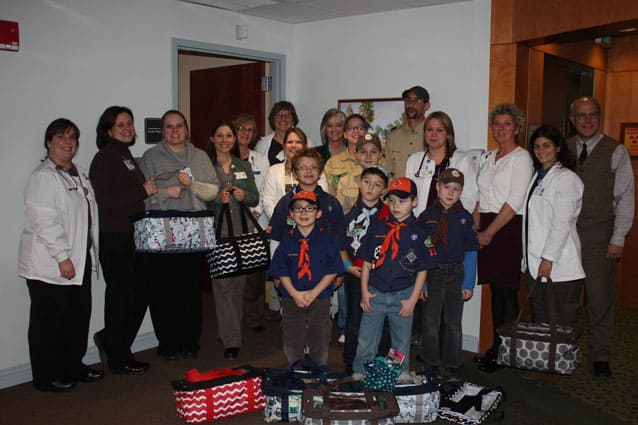 Cub Scout pack brings comfort to cancer patients