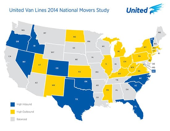 Vermont ranks fourth on list of top moving destinations in 2014
