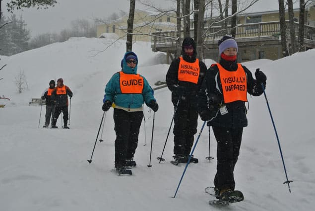 Blind athletes gathered for a winter celebration on the slopes of Pico