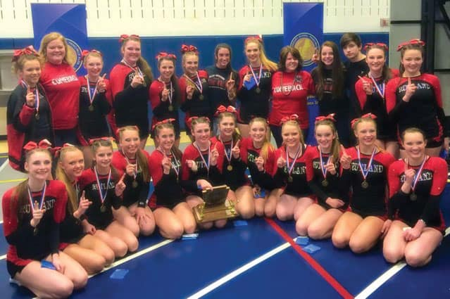 Rutland Cheerleaders win New Englands