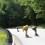 Downhill Throwdown Skateboard Yellow