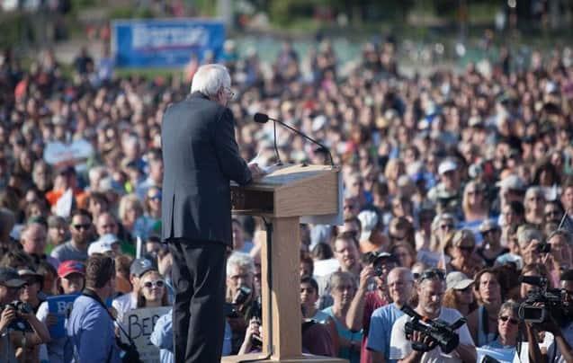 Bernie's campaign kick-off