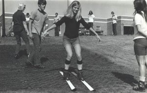 OBIT - This is Bill on left teaching students on plastic ski mats when they came along.