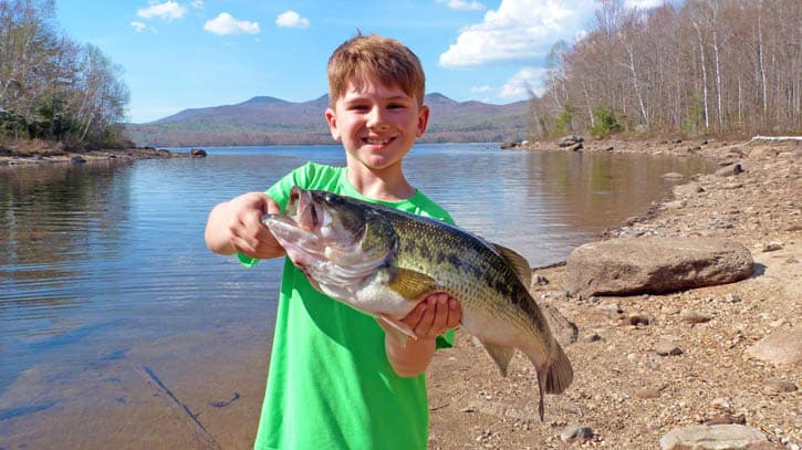 Vermont bass fishing season opened june 13 the mountain for Bass fishing times