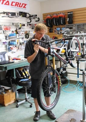 Graham Cook takes over head bike mechanic at True Wheels Bike Shop