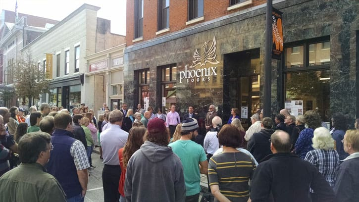 phoenix books rutland�s grand opening packs the streets of
