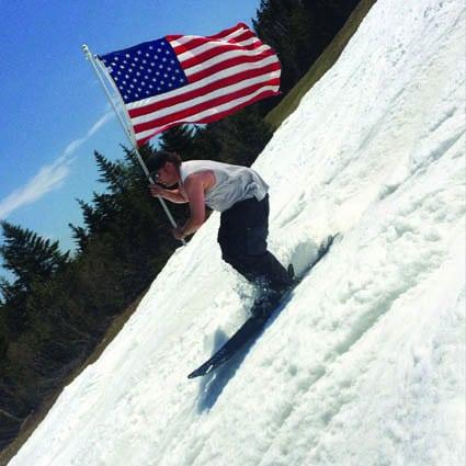 Memorial Day ski, Tucker Adirondack Lange, by Kelly Lange
