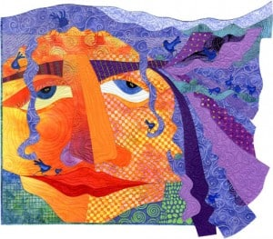 The Girl with the Purple Hair quilt by Judith Reilly, Compass Music & Arts Center