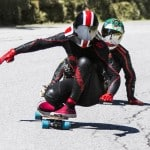 Downhill throwdown skateboard racers