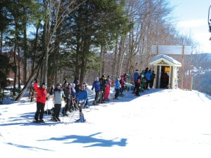 Racers waiting for the 3 2 1 Hup signal at the 70+ NASTAR race at okemo