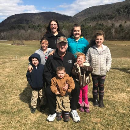 Submitted Surrounded by his grandchildren, Chuck Weeden, Sr., of Pawlet, has been recovering from heart surgery in January.