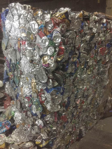 By Polly Lynn  18,500 aluminum cans make up a bale.