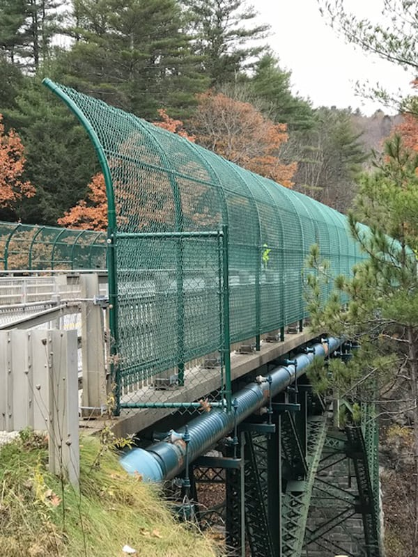 By Curt Peterson Nine-foot tall suicide prevention fences were installed on the bridge overlooking the Quechee Gorge.