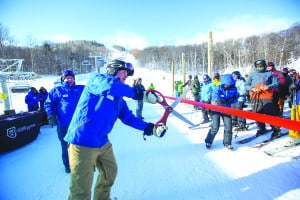 By David Young Killington President and CEO Mike Solimano cut the ribbon for the new Snowdon high speed chairlift on Thursday, Dec. 8. The bubble lift is open for the season.