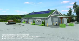 Courtesy VFFC A rendering of the proposed 8,400 square-food Commercial Food HUB Center to be located at the Vermont Farmers Food Center (VFFC) on West Street in Rutland.