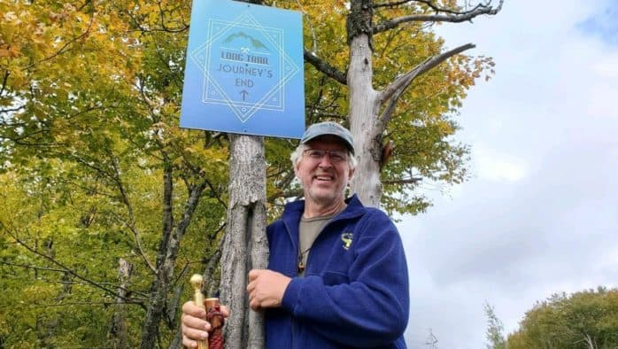 'Unemployed'scout camp director's Long Trail trek raises $30,000 for Vermont programs threatened by Covid-19