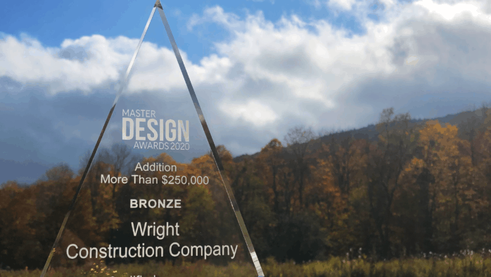 Wright Construction Company recognized for Ludlow home addition