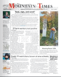 Mountain Times – Volume 49, Number 40: Oct. 7-Oct. 13, 2020