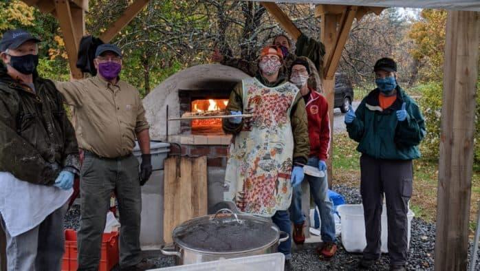 Hartland enjoys new community pizza oven