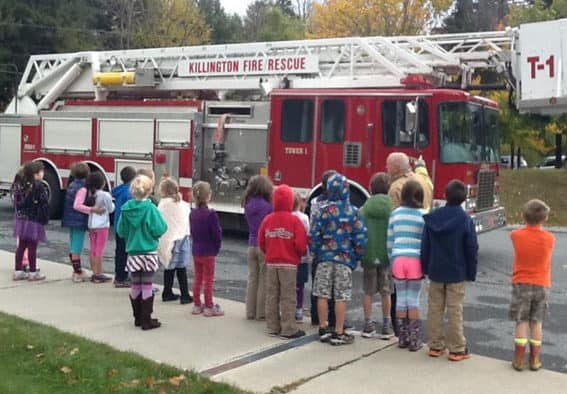 Killington Elementary honors Fire Safety Week