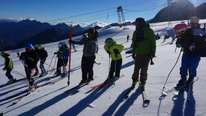 KMS Alpine athletes hit the slopes training in Stubai, Austria