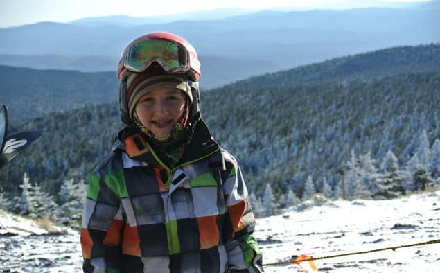 He clocked 127 days on snow last season, can 7-year-old Max Landon do it again?