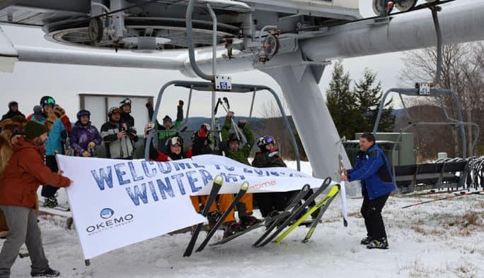 Okemo opened Sunday with 11 trails
