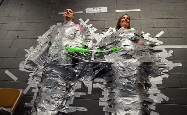"Rutland Town principals get ""Stuck for a buck!"""