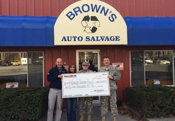 Browns Auto helps to donate $21,000 to Wounded Warrior