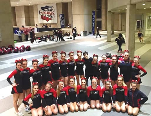 Rutland cheerleaders earn second place at national championships in Dallas, Texas