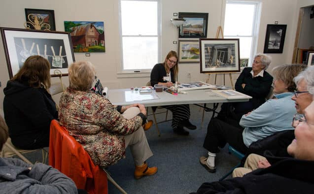 Pratt, a member of the Vermont Watercolor Society, attended KAG annual meeting as honored guest