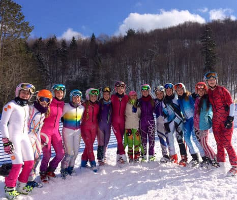 KSM alpine skiers shine in competitions
