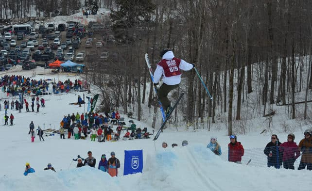 Mogul skiers compete for quality line, speed and air