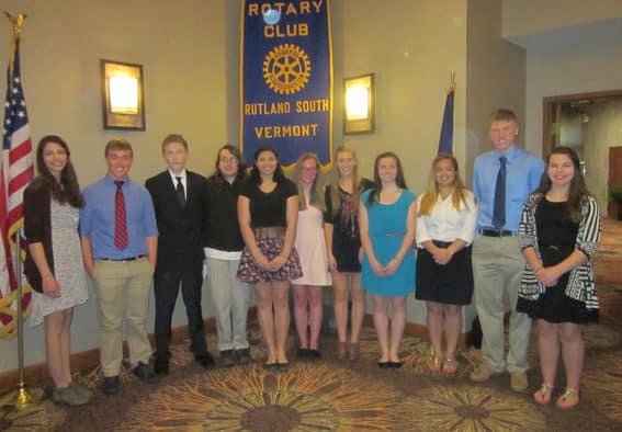 Rutland South Rotary Club Scholarship recipients announced