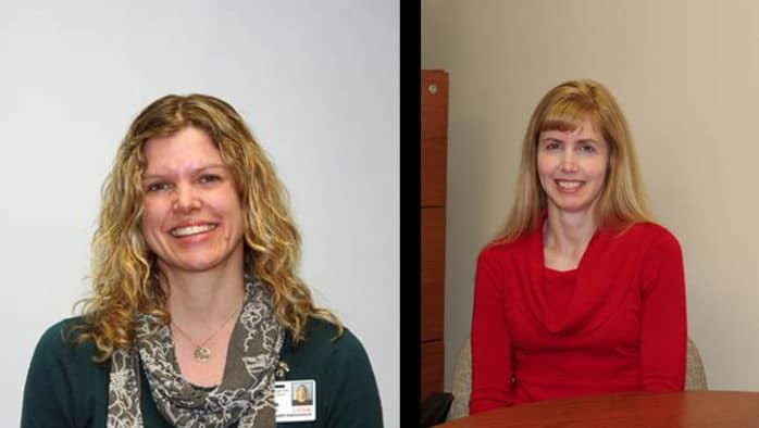 Laura Edwards and Lisa Barker honored at RRMC