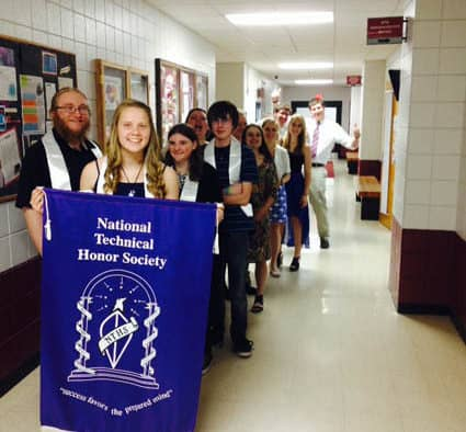 Stafford Technical Center inducts nine students into the National Technical Honor Society