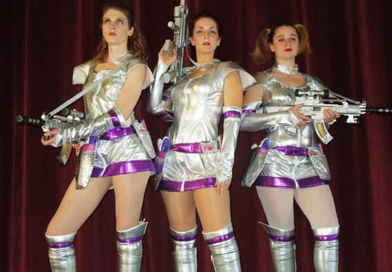 """Join an adult evening of glittery theater with Marble Valley Players for """"Saucy Jack and the Space Vixens"""""""
