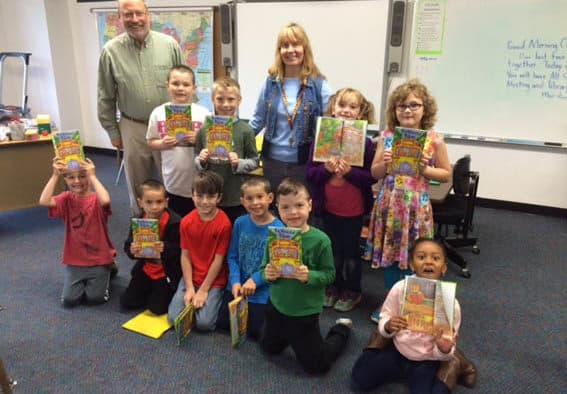 Ludlow Rotary Club gives books to first graders