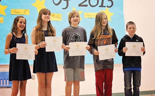 Five KES students receive President's Education Award