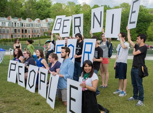 We're standing with Bernie