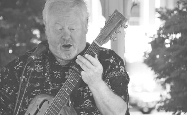 Chris Kleeman plays at Proctorsville Concert on the Green