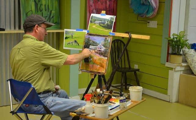 Local Artist Peter Huntoon hosted event at Art Garage