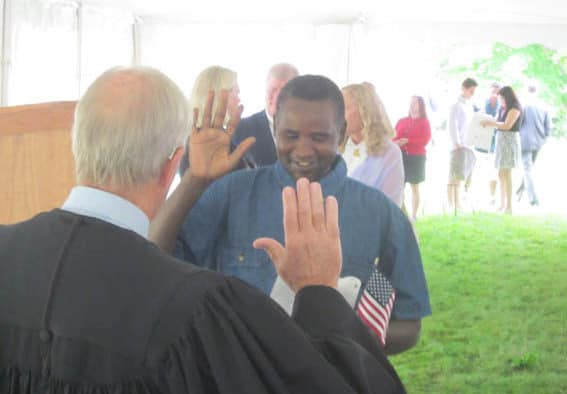 New Americans sworn in at Coolidge site
