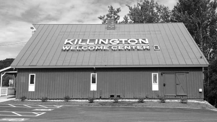 New sign on roof welcomes visitors to Killington