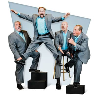 Experience musical hilarity in the form of Three Men and a Tenor, at Chandler