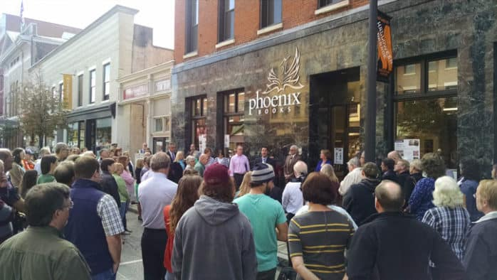Phoenix Books Rutland's grand opening packs the streets of downtown Rutland