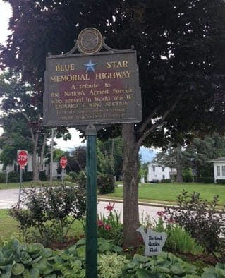 Rutland Garden Club hosts dinner to refurbish WWII plaque along Blue Star Memorial Highway
