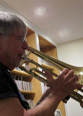 Thursday jazz jam session and discussion led by Prof. Fred Haas